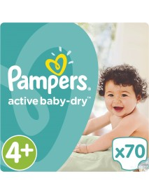 Pampers Active Baby-Dry 4+-Os 9-16Kg 70Db