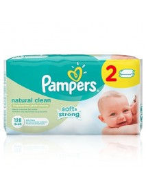 Pampers Natural Clean Nedves T. 2X64Db