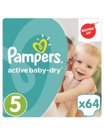 Pampers Active Baby-Dry 5-Ös 11-18Kg 64Db