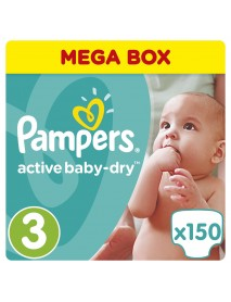 Pampers Active Baby-Dry 3-As 5-9Kg 150Db