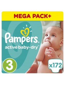 Pampers Active Baby-Dry 3-As 5-9Kg 172Db